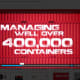 Here is also proof that they manage over 400,000 containers, according to the video on their website.