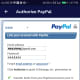"""Input your PayPal password and hit the """"Authorize"""" button to give access to GCash."""