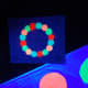 The game spinner glowing