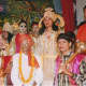 During Ramleela, actors act out incidents from the life of Rama.