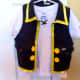 Our finished Jake the Pirate's shirt and vest.