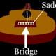 ...the bridge & saddle...