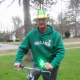 As a St. Patrick's Day tradition, my dad enjoys dressing up like a leprechaun and driving his bike to the bus stop to meet my daughter. She tries her best to ignore him.  She is 15!