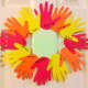 Our finished thankful hands wreath!