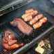 Barbequing food
