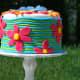 Ribbed flower cake.
