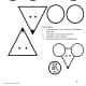 """This template has shapes to color, cut, and assemble to make to rat faces along with the Chinese character and English word for """"rat."""" Use for decorating things like greeting cards or bookmarks."""