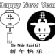Year of the Ox Coloring Sheet  7—Ox with Black Circle Background—Landscape