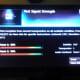 Test Signal Strength screen