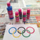 Print color picture of Olympic rings to follow as a guide.