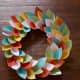 #1 Paper leaves wreath