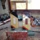 Using an Electric sander for rounding the corners and edges, and final all-over sand down