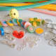 Quilled coils and findings for jewellery making