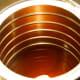 Melt the wax in the coffee pot over medium-high heat.