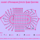 Haile's (Pineapple Stitch) Baby Booties Chart Pattern