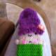 Crocheted nub arms.