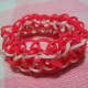 The bracelet can be finished by either using c-clips or securely knotting and tying the ends together.