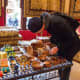 My husband checking out some Moroccan goods.