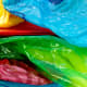 Save all of your brightly colored plastic bags for recycled craft projects.
