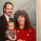 Family photo - 1990 sweater and big hair.