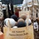 Dryer balls for sale at the market.
