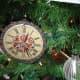 Steam punk clock ornament on the tree