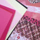 Pretty paper that caught my eye. Colorful cardstock and scrapbook papers in perfect shades and patterns for Valentine's Day crafting.