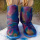 Use the first boot as a model so that your second boot comes out looking similar in pattern.
