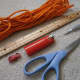 Supplies needed to make a survival bracelet