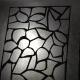 glue waxpaper to window