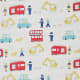 Children's fabric in a delightful washable print. (These fabrics are available from John Lewis in UK.)
