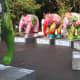 A gathering of the elephants in Lumpini Park, Bangkok