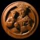 St. Joseph and Christ Child, American black walnut