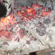Hot coals ready to start the annealing process.
