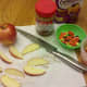 Cut apples into slices.