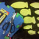 Supplies to create fish and other sea life creatures for fishing game.
