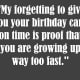 Belated birthday message for a kid
