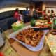 Barbeque pork buffet.