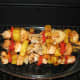 Kabobs with pineapple.