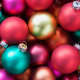 Use your imagination with Christmas balls!