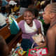 Girls celebrating their OCC shoebox gifts in Belize.