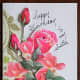 floral birthday card for sister