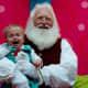 Santa's enjoyment is a little disturbing.