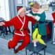 The Lynches as Santa and an Elf