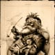 The Illustrator Thomas Nast was born in Germany, but emigrated to the USA. His depiction of Santa Claus is said to have been heavily based on Pelsnickel from his homeland.