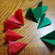 Finished folded circles; now rounded-end triangles!