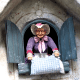 Mother Hulda/ Frau Holle shaking her pillow as depicted at the Efteling, a themepark in the Netherlands with attractions based on fairytales, myths and legends.