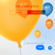 You can also add effects in the message background, such as balloons.