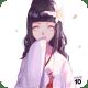 Hinata Hyuga wearing a traditional wedding dress kimono.