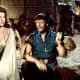 Film stars Susan Hayward and John Wayne.